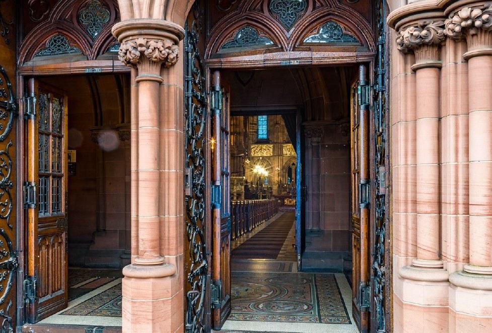 front doors of coats memorial church